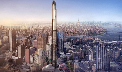 First rendering revealed for Brooklyn's first skyscraper