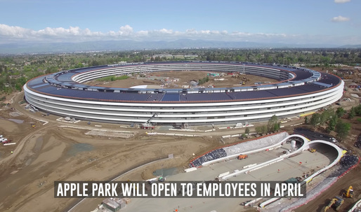 An exquisite drone tour over Apple's new campus reveals the pond, furniture, + a new theater