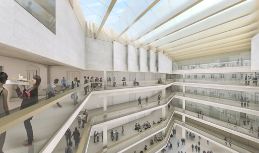 """Coop Himmelb(l)au compares campus redesign of the University of Applied Arts Vienna to a """"prison courtyard"""""""