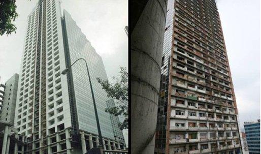 Anywhere but Here: Deserted Banking Empire turned Skyscraper Slum
