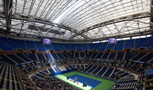 New $150M PTFE membrane roof at Arthur Ashe Stadium blocks the rain but not the noise
