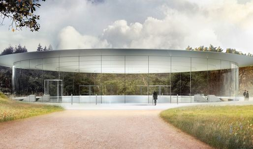 "Foster + Partners' Apple ""spaceship"" set to touch down and open up in April"
