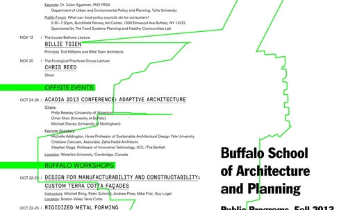 Get Lectured: Buffalo School of Architecture and Planning Fall '13