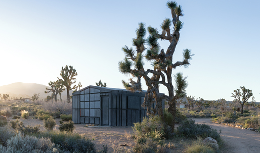 "Artist Rachel Whiteread creates two ""ghost"" cabins in the desert outside of Los Angeles"