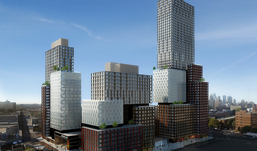 Work finally resumes at Brooklyn's modular prefab tower