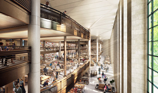 N.Y. Public Library, Norman Foster Evict a Million Books