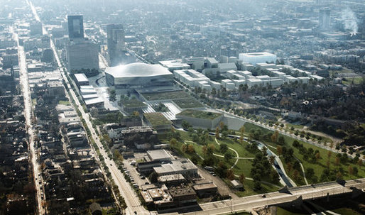 Five teams shortlisted for Town Branch Commons in Lexington, Kentucky