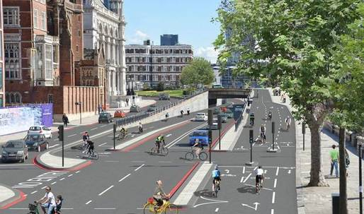 "Boris Johnson greenlights London's ""Crossrail"" bicycle superhighway"