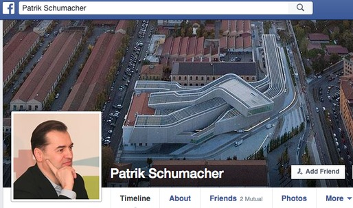 """Patrik Schumacher takes to Facebook """"In Defense of Stars and Icons"""""""
