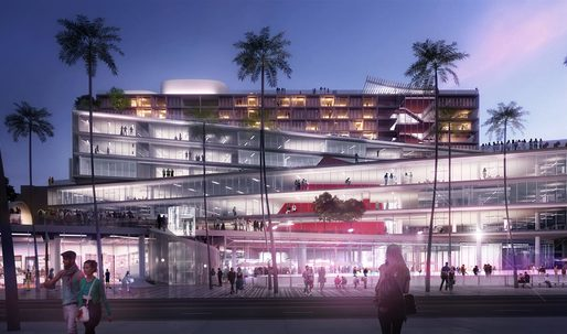 "OMA's Winning ""The Plaza at Santa Monica"" Entry"