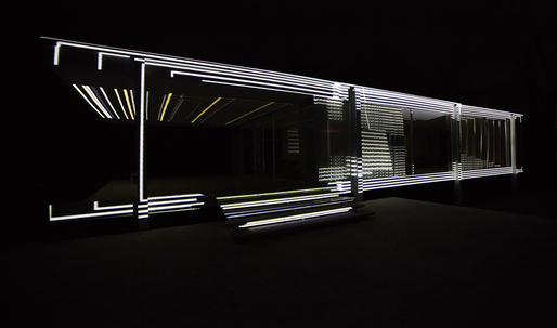 INsite by Luftwerk turns Mies' Farnsworth House inside-out with light and sound