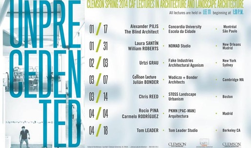 Get Lectured: Clemson School of Architecture, Spring '14