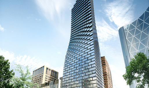 BIG's Telus Sky Tower breaks ground in Calgary, Canada.
