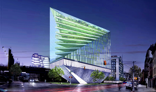 Could This Glass-Enclosed Farm/Condo Grow on Rem Koolhaas' High Line Site?