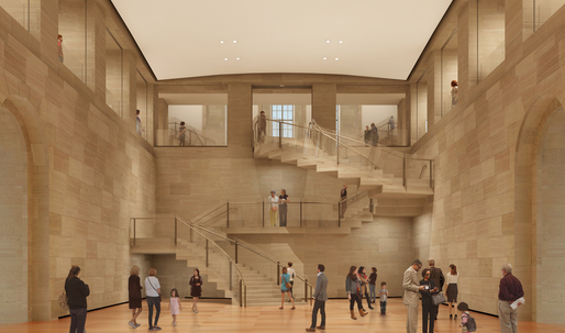 Ground breaks on Frank Gehry's subtly lit, opened-up Philadelphia Museum of Art