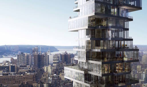 Watch this time-lapse construction video of Herzog + de Meuron's Jenga-like 56 Leonard in NYC