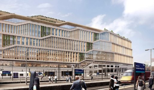 A surprisingly classical look for Google's London HQ from Heatherwick Studio + BIG