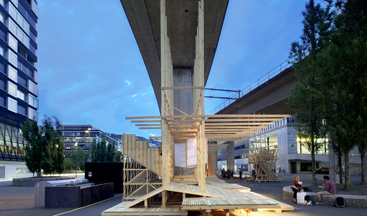 First-year students in Zurich build a 240 square meter installation in less than 10 days