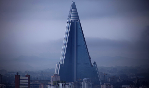 Rumors circulate around world's largest unoccupied building in North Korea as the country tests its second missile