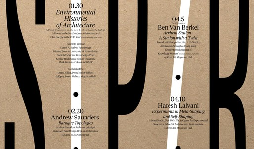 Get Lectured: PennDesign, Spring '17