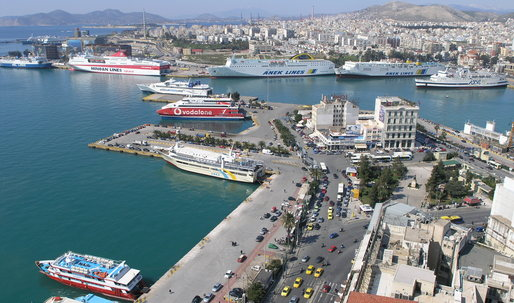 Tensions build at Athen's port of Piraeus, the first stop for many refugees seeking asylum in Europe