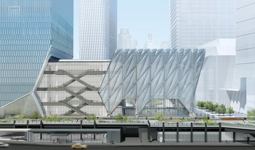 "Construction begins on Diller Scofidio + Renfro and the Rockwell Group's ""shape-shifting"" arts center in Manhattan"