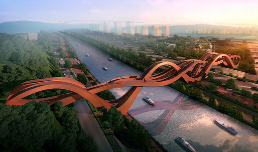 """NEXT Architects design a swooping """"Mobius strip"""" bridge for Changsha, China"""