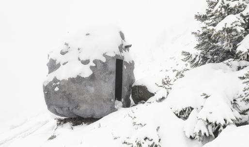BUREAU A's Swiss alpine cabin lets you camp out inside a boulder
