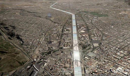 A river of solar power: a scheme for the Tijuana river