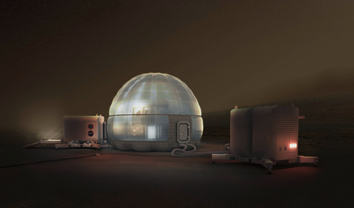 """The logistics of building NASA's carbon-dioxide insulated, """"Ice Home"""" on Mars"""