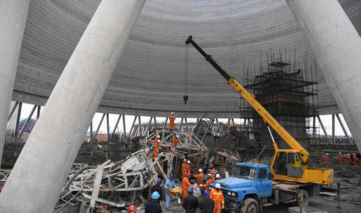 74 reported dead after construction scaffolding collapses in eastern China