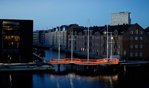 Olafur Eliasson opens ship-themed pedestrian bridge in Copenhagen