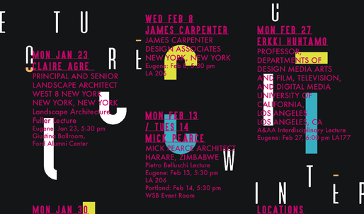 Get Lectured: University of Oregon, Winter '17