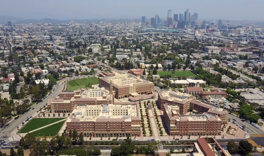 "Christopher Hawthorne reviews LA's newly opened USC Village development: ""Equal parts Disneyland and Hogwarts"""