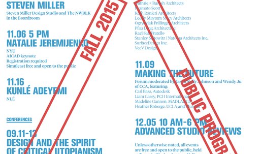 Get Lectured: California College of the Arts, Fall '15