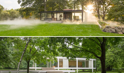 Two of a kind: photographer Robin Hill contemplates the Farnsworth House and Glass House simultaneously
