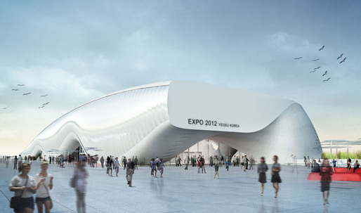 Construction Photos of soma's Thematic Yeosu EXPO Pavilion