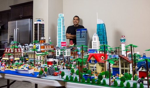 See downtown Los Angeles in Legos