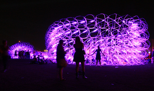 Student Works: Rock and Roll Fantasy - SCI-Arc at Coachella: Elastic Plastic Sponge