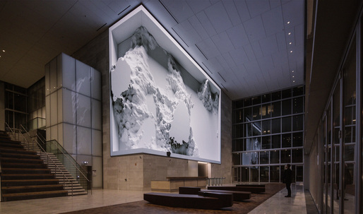 """Refik Anadol's new """"data sculpture"""" unveiled at the SOM-designed 350 Mission in San Francisco"""