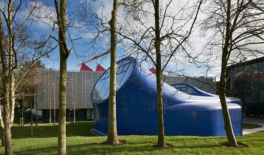 Sir Peter Cook-designed drawing studio at the Arts University Bournemouth opened today
