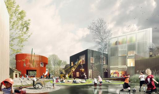 COBE and NORD Architects Win Copenhagen's Prinsessegade Kindergarden