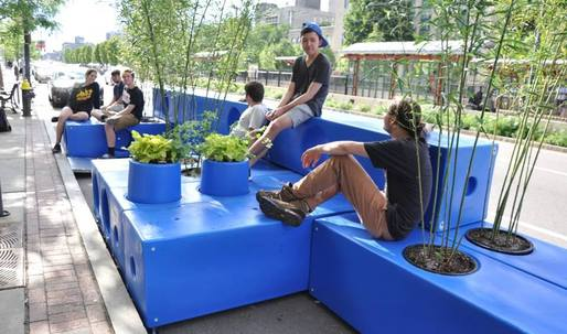 Started from the Bottom: Boston Experiments with Parklets as Place-making Strategy