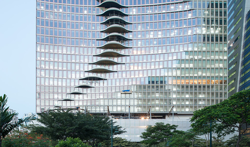 """Manila's new """"wavy"""" mixed-use tower opens in the city's booming financial district"""