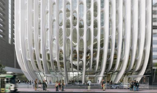 "Tour Zaha Hadid's ""stacked vases"" tower in Australia"