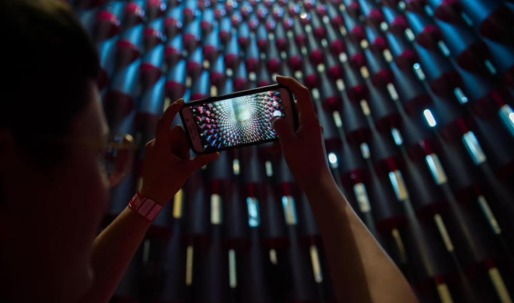 Visitors delight in the Instagram-worthy Jeanne Gang installation at the National Building Museum