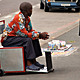 Spaza-de-Move-on: Spaza-de-Move-on, prototype. Architect/artist: Doung Anwar Jahangeer (South Africa), DALA, with street vendor Moses Gnwaba (South Africa). Fabricator: Rebcon Engineering. Funders: Imagine Durban planning project by Canadian International Development Agency and eThekwini Municipality. Durban, South Africa, 2001-present. Galvanised steel, mild steel. Photo: © DALA Studios