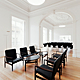 Main floor. Reading room with vintage chairs and Eye Table by Finn Juhl. © 2011 – do mal o menos