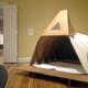 The Cardborigami shelter is on display at the Berkshire Museum's latest exhibit,