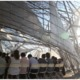 the 2011 SCI-Arc Graduation Pavilion by Oyler Wu Collaborative along with students
